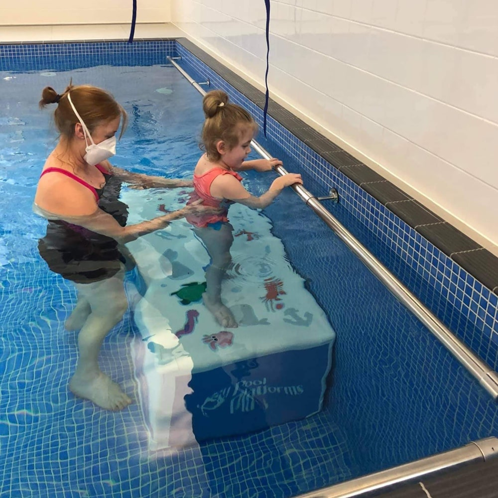 Hydrotherapy pool in Surrey being used for Aquatherapy treatment for SDR